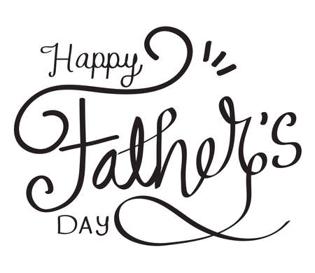 happy fathers day message calligraphy
