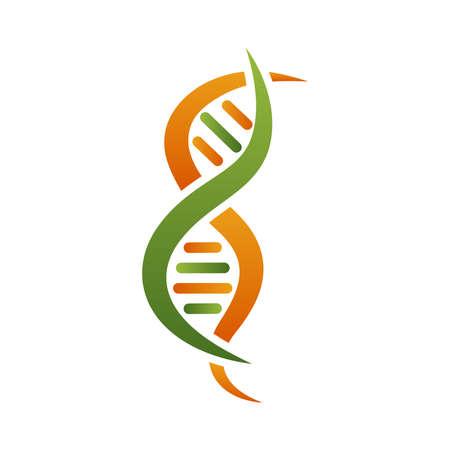orange and green dna molecule