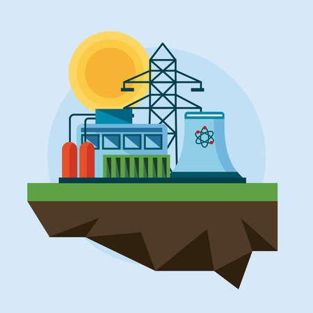 clean energy renewables scene icons