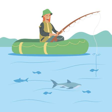 fisher in boat scene character