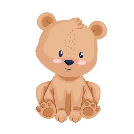 cute bear animal Ilustración de vector