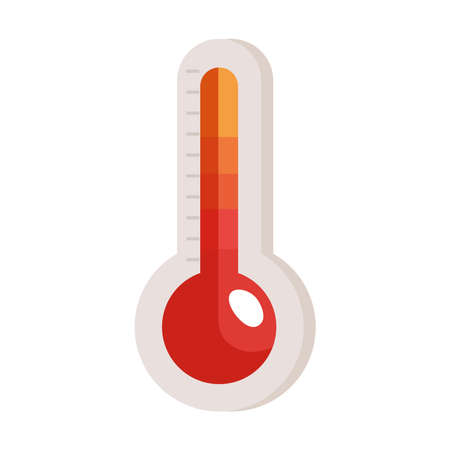 red thermometer of meteorology