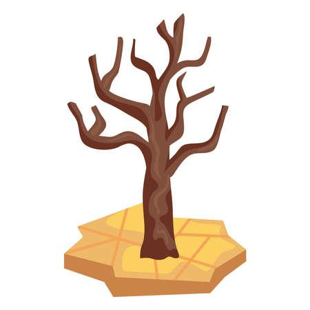 dry tree in desertification