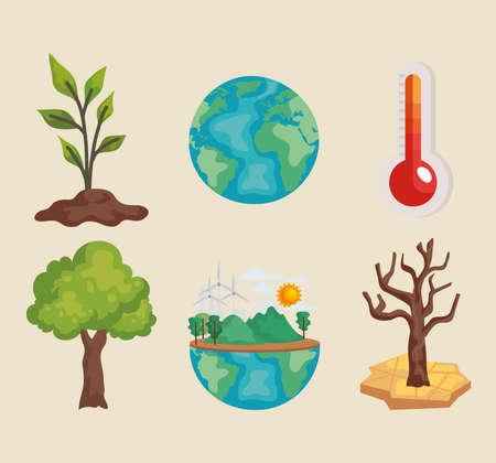 environmental problems global Vektorgrafik