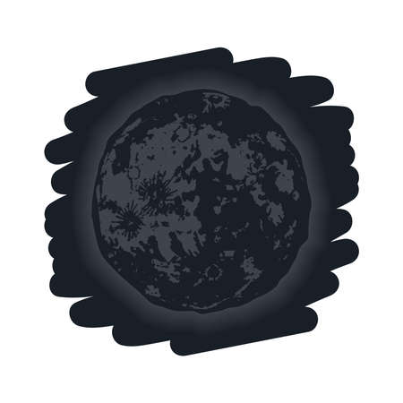 new moon phase lunar icon Vettoriali