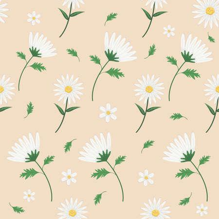 pattern of flowers daisy Vettoriali
