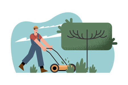 male gardener using pruner gardening activity