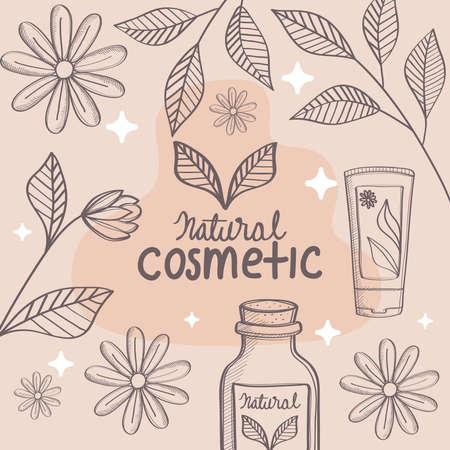 poster of cosmetic organic Vettoriali