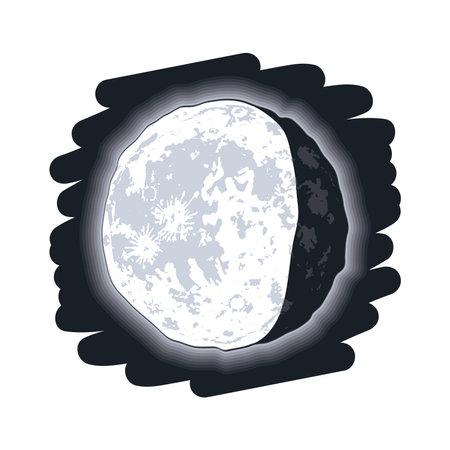 waning gibbous moon phase lunar icon