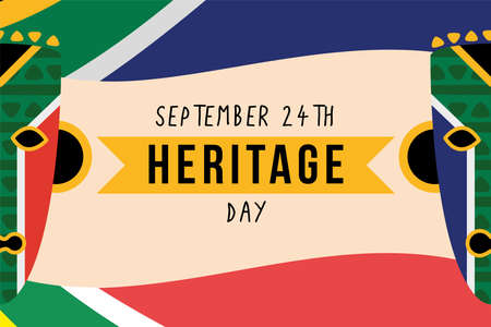 heritage day poster with masks