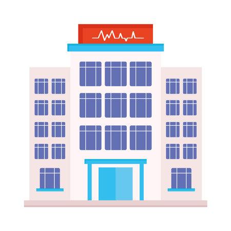 hospital building heartbeat