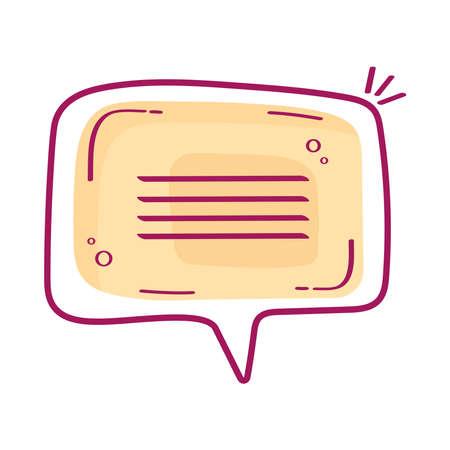 orange communication sign Ilustracja