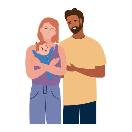interracial couple with newborn