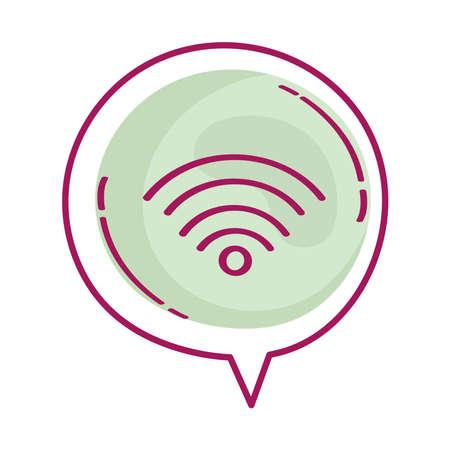 bubble with wifi icon Ilustracja