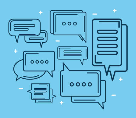 seven chat icons