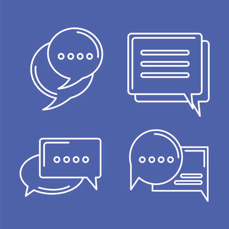 four chat icons