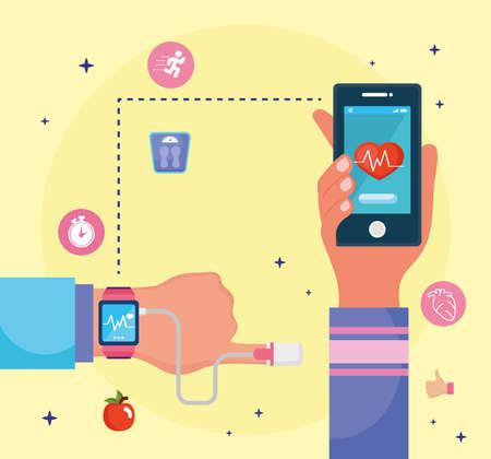 health monitors devices Ilustracja