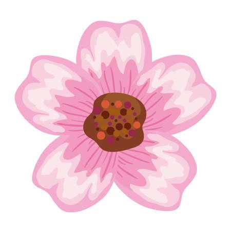cute pink flower Ilustracja