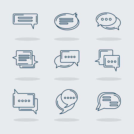 nine chat icons
