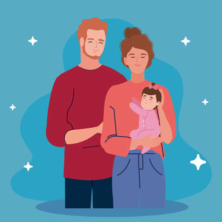 couple parents with newborn