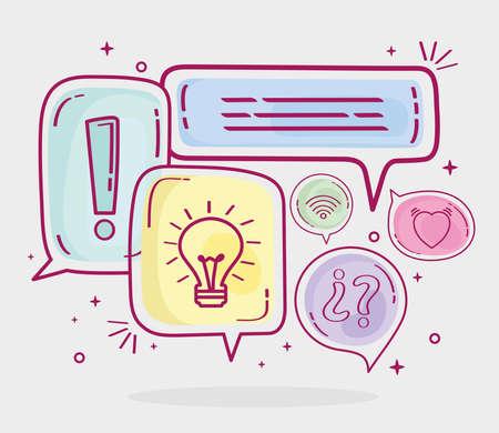 balloons text icons Ilustracja