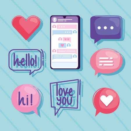 nine virtual relationship icons