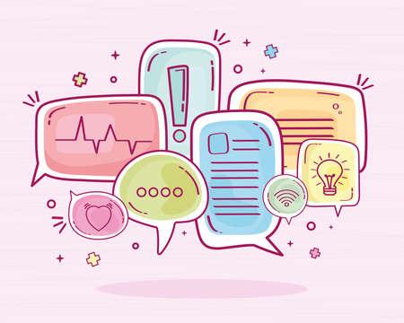 balloons text designs Ilustracja