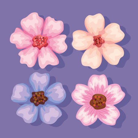 four flowers garden