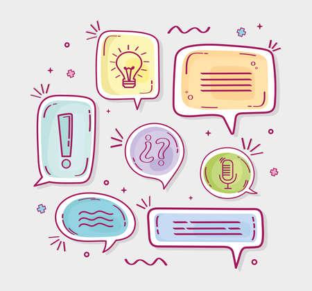 speech bubbles designs Ilustracja