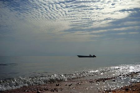 dahab: The fishing boat in Red Sea. Dahab. Stock Photo