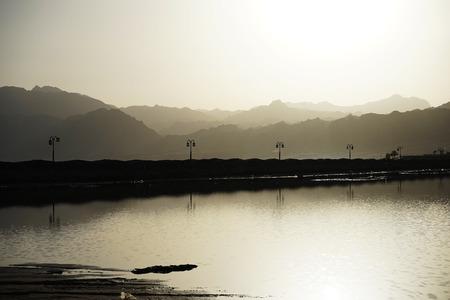 dahab: Promenade path leads from Dahab to Lagoon. Dahab. Egypt