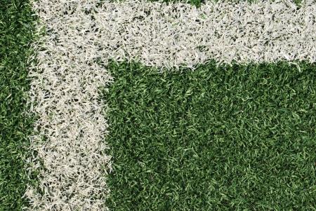 Angle at football field photo