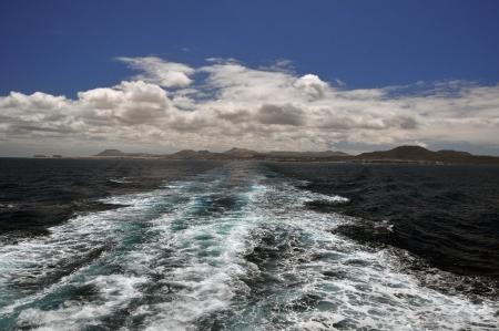 Next ship in the Atlantic Ocean, splash photo