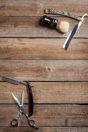 Vintage straight razors and scissors