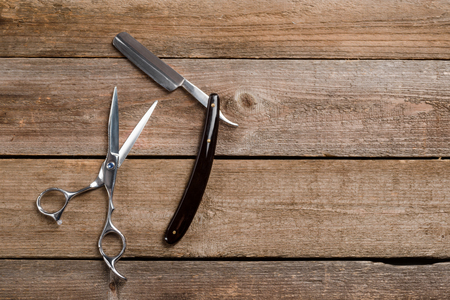 Scissors and straight razor macro