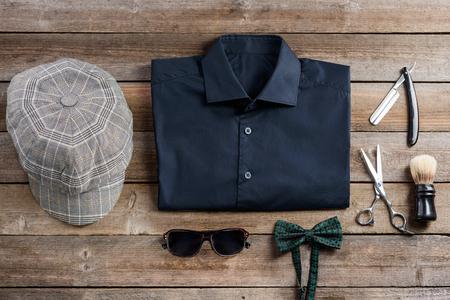 Shirt and flat cap