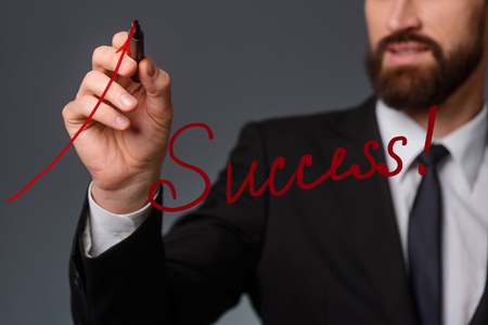 Success lettering in the foreground Stock Photo