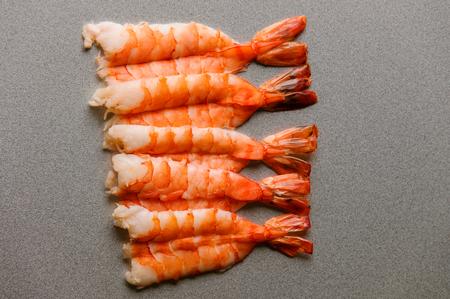 Nice row of huge shrimps