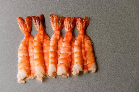 Yummy shrimps of a big size