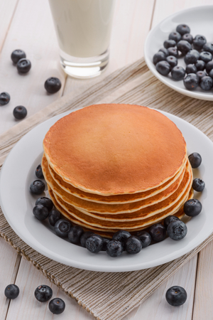 Pancakes folded in a stack