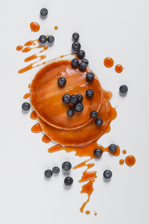 Top view of yummy pancakes