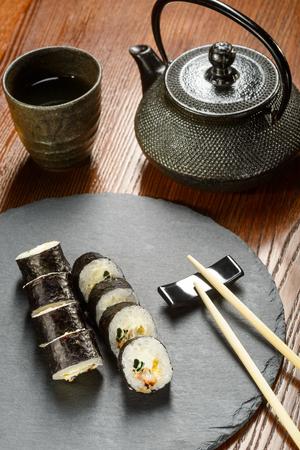 Pickled radish sushi rolls