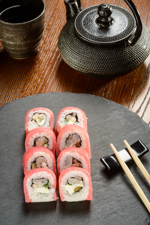 Capers rolls and chopsticks
