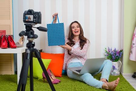 Fashion blogger shooting new video