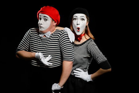 Comedy sketch of mimes