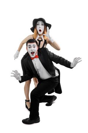 Scared man and woman 版權商用圖片