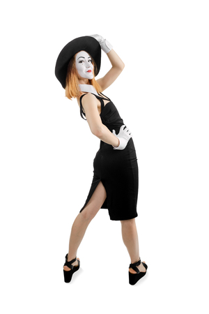 Mime actress posing