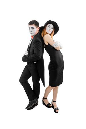 Portrait of haughty mimes Stock Photo