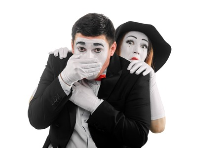Mimes imitate fear and anxiety