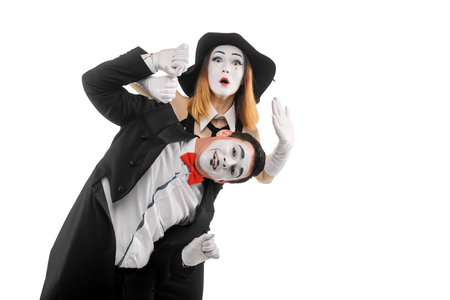 Comedy show of two mimes